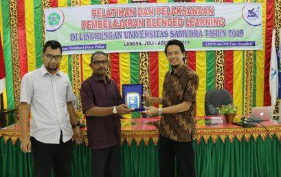 Dosen FMIPA UNNES memberi Pelatihan Blended Learning di Universitas Samudera Langsa Aceh