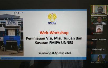 Web-Workshop Peninjauan Visi, Misi, Tujuan dan Sasaran FMIPA UNNES Tahun 2020