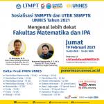 """Mengenal Lebih Dekat FMIPA"" di Sosialisasi SNMPTN dan UTBK SBMPTN UNNES Tahun 2021"
