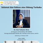 Selamat Atas Sidang Terbuka Dr. Dwi Yulianti, M.Si. Program Studi S3 Pendidikan IPA UNNES