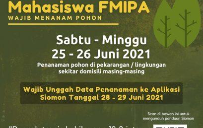 MAHASISWA FMIPA MENANAM POHON