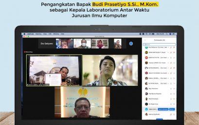 Serah Terima SK Rektor kepada Budi Prasetiyo, S.Si., M.Kom. sebagai Kalab. Antar Waktu Ilkom