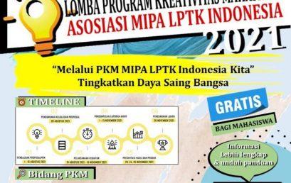 Lomba Program Kreatifitas Mahasiswa AMLI 2021