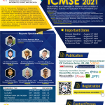 Call for Papers: ICMSE 2021, The 8th International Conference on Mathematics, Science, and Education