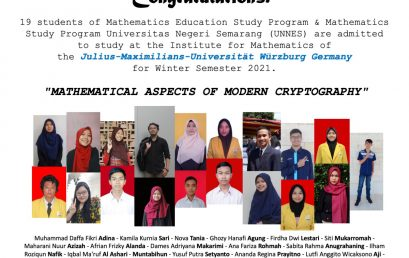 Selamat, 19 Mahasiswa Jurusan Matematika FMIPA Diterima Program Outbound Kuliah di Jerman