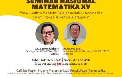 Call for Paper: Seminar Nasional Matematika 2021
